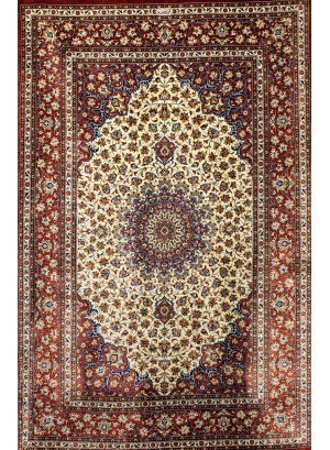 No. 103 100% Silk Persian Qum 5' x 3'