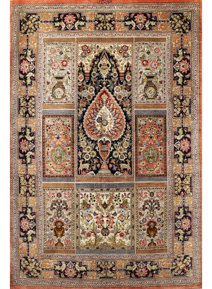 No. 107 100%  Silk Persian Qum 5'x 3'