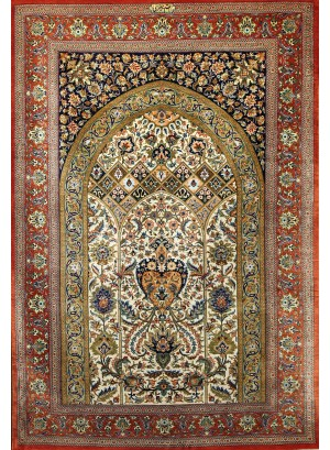 No. 106 100% Silk Persian Qum 5' x 3'