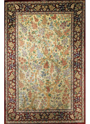 No. 108 100% Silk Persian Qum 5' x 3'