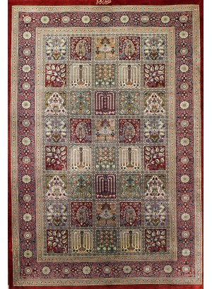 No. 112 100% Silk Persian Qum 5' x 3'