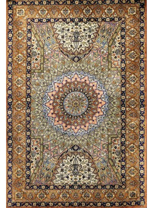 No. 23 100% Silk Persian Qum 4' x 2'