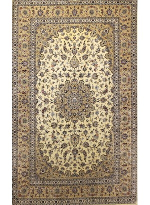 (110) 100% Silk Persian Kashan 5' x 3'