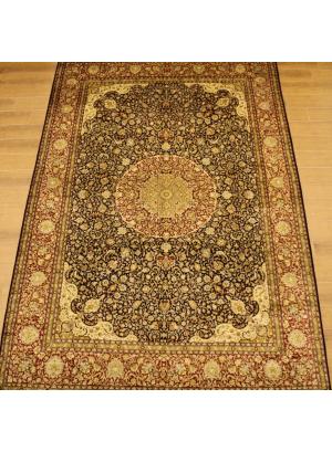 (547) 100% Silk Kashmiri 12' x 9'